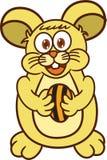 与太阳花种子动画片的逗人喜爱的仓鼠 库存照片