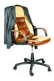 与夹克的椅子 免版税图库摄影