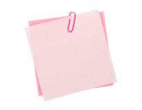 与夹子的五颜六色的便条纸 库存照片