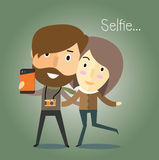 与女朋友的Selfie 免版税图库摄影
