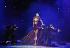 与女王/王后印度记忆这奥地利的世界舞蹈的观众 免版税库存图片