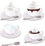 与奶油的咖啡 免版税库存图片