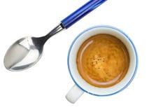 与奶油的咖啡 库存照片