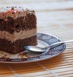 与奶油的蛋糕 免版税库存照片
