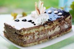 与奶油的蛋糕 库存照片