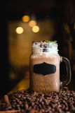 与奶油色异常的提议的俄国咖啡 免版税库存照片