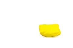 与奶油色装填的黄色绉纱卷 免版税库存照片