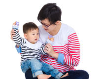与她的儿子的母亲戏剧 免版税库存图片
