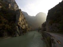 与好的光的峡谷在欧洲 库存图片