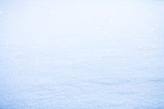 发光的雪 图库摄影