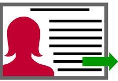 与妇女的外形文件Clipart 免版税库存图片