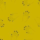 与妇女胳膊的手拉的无缝的传染媒介样式 免版税库存图片