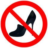 与妇女`s鞋子的禁止的路 皇族释放例证