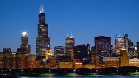 与威利斯大厦的芝加哥地平线 影视素材