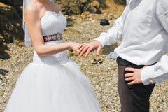 与婚戒的藏品现有量 免版税库存照片