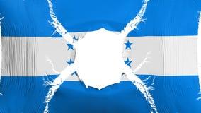 与孔的洪都拉斯旗子 向量例证