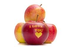与字我爱你的Apple 库存照片