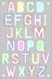 与字母表集合的滤网样式 免版税库存照片