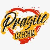 与字法的印刷品关于布拉格 皇族释放例证