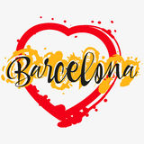 与字法的印刷品关于巴塞罗那 向量例证