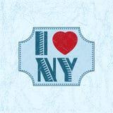 与字法的印刷品我爱NY 库存图片