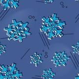 与孟菲斯的圣诞节无缝的雪花样式称呼了假日装饰品的雪星 库存图片