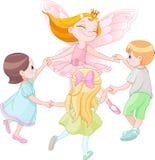 与孩子的神仙的跳舞 库存图片