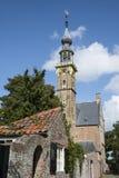 与它的塔兰吉的西兰省的1月米德尔堡下面修道院复合体 图库摄影