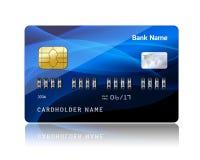 与安全组合代码的信用卡 免版税库存照片