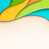 与安排的五颜六色的波浪背景文本的 免版税图库摄影