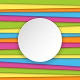 与安排的五颜六色的镶边背景文本的 免版税库存照片