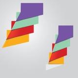 与安排的四origmai颜色bubles您的文本的 免版税库存图片