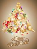 与安排的圣诞卡文本的 10 eps 免版税库存图片