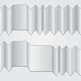 与安排的被折叠的口琴纸张您的文本的 库存图片