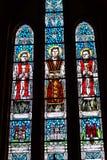 与宗教场面的壁画,大教堂Bialystok 免版税库存照片