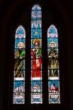 与宗教场面的壁画,大教堂Bialystok 库存照片
