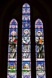 与宗教场面的壁画,大教堂Bialystok 图库摄影