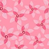 与宝石无缝的样式的桃红色花 免版税库存照片