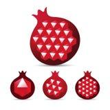 与宝石红宝石石榴石种子的石榴 免版税库存图片