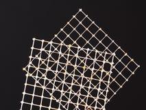 与实践焊剂联接的两个罐子导线栅格 免版税库存图片