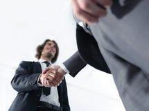 与客户的有效的交涉 企业概念照片 图库摄影