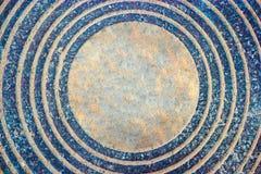 与室的圈子生锈的铁样式文本的在中环中心中 免版税图库摄影