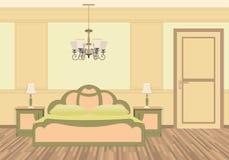 与家具的卧室内部在经典样式 库存照片