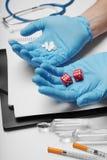 与家庭医生、医疗保健和诊断的咨询 免版税库存图片