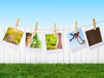 与家庭的印刷品 库存照片
