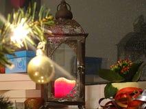 与家庭的圣诞节 免版税库存图片