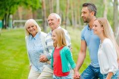 与家庭的质量时间 免版税图库摄影