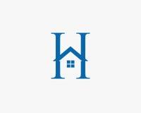 与家庭象的信件h商标 免版税库存照片