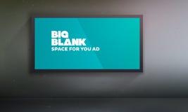 与容易地多变的内容的空白的广告牌模板 库存图片