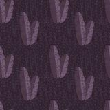 与密林棕榈叶的无缝的样式在紫色背景 皇族释放例证